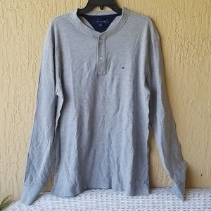 XL Tommy Hilfiger gray long slv shirt